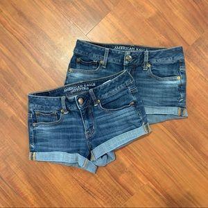 Bundle of 2 AEO shorts